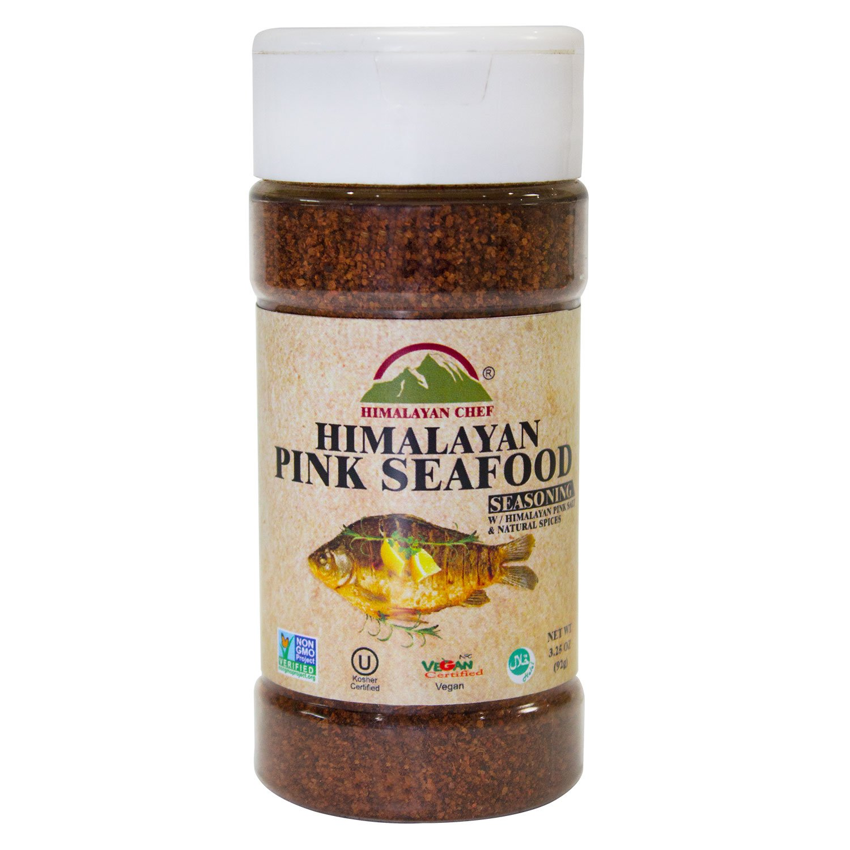 Himalayan Chef Pink Seafood Seasoning Jar, 3.25 Ounces, (Pack of 6), Vegan Certified