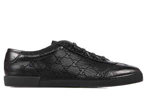 Gucci scarpe sneakers donna in pelle nuove nero EU 35 246344 F6D10 1000   Amazon.it  Scarpe e borse 15ef30059aa3