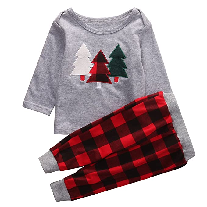 Toddler Christmas Outfit.Amazon Com 2pcs Kids Toddler Baby Girl Boy Christmas Outfit