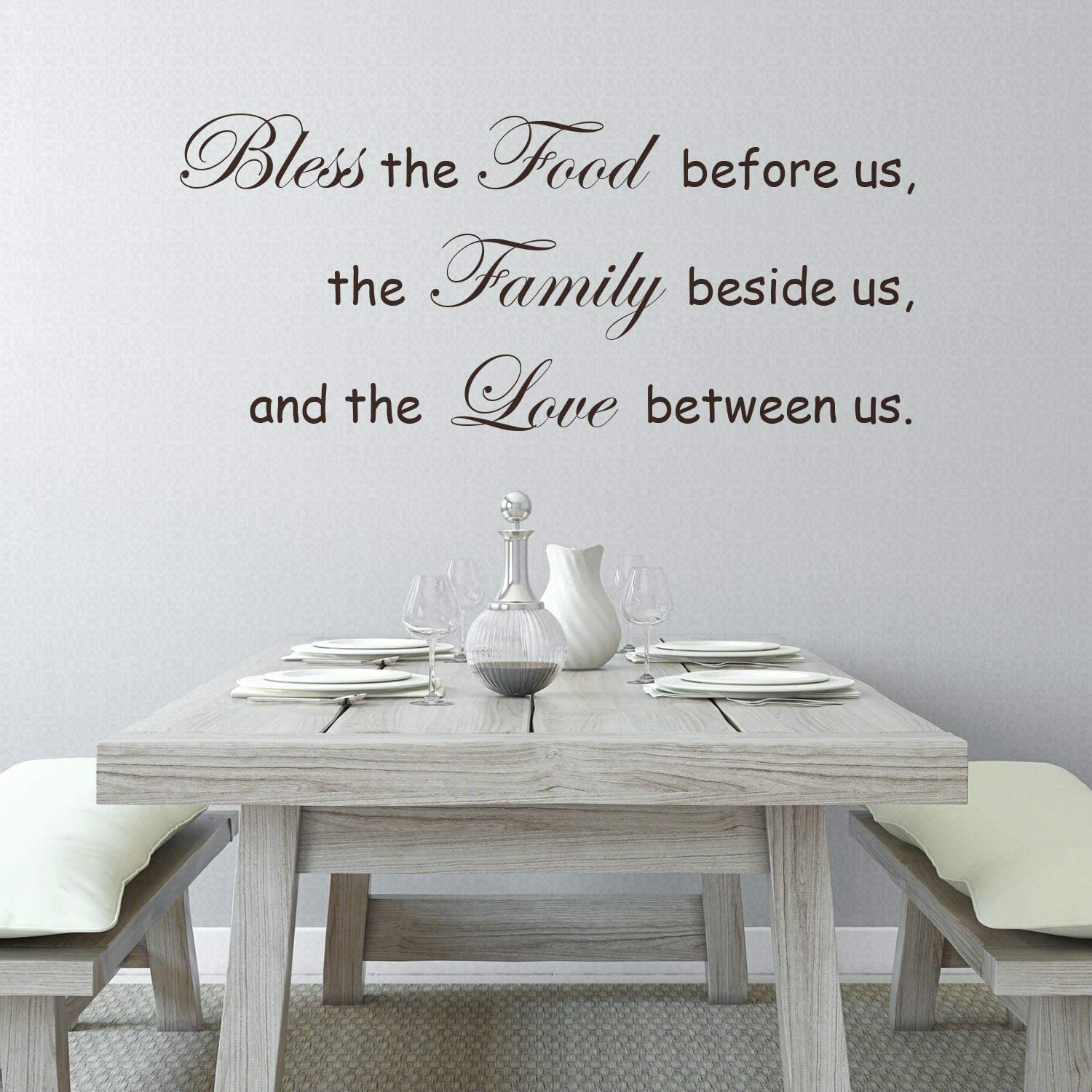 Rotumaty 'Bless The Food Before us' Prayer Wall Stickers Kitchen & Dining Room Positive Wall Decal Vinyl Home Decor