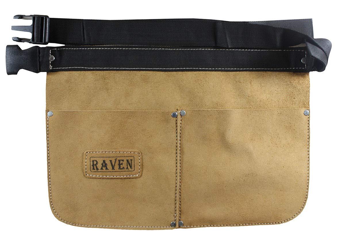 Beige Split Leather Tool Apron 2 Pockets /& Quick Release Buckle