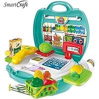 Smartcraft 26 Pieces Organic Bring Along Briefcase Cash Register Set for Kids (Model 6)