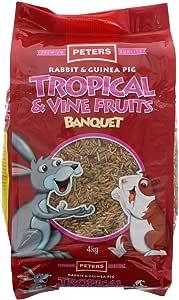 Rabbit & Guinea Pig Tropical & Vine Fruit Banquet Pet Food 4kg Premium Quality