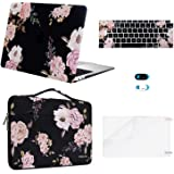 MOSISO MacBook Air 13 inch Case 2020 2019 2018 Release A2337 M1 A2179 A1932, Plastic Peony Hard Shell&Bag&Keyboard Cover&Webc