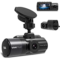 Vantrue N4 Dash Cam 3 Channel 1440P Front & 1080P Inside & 1080P Rear Triple Dash Camera with Infrared Night Vision…