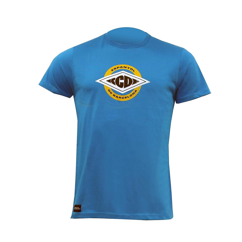RCD Espanyol Camiseta SS19 ROMBO (L): Amazon.es: Deportes y aire libre