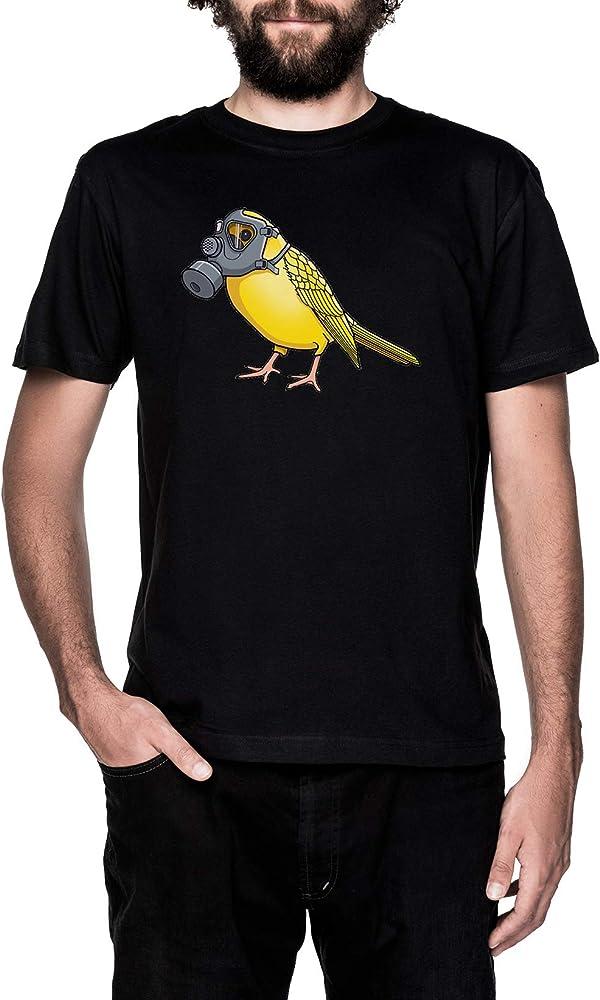 Los Aves Arent Canto Negro Camiseta Hombre Manga Corta Black T-Shirt Mens: Amazon.es: Ropa y accesorios