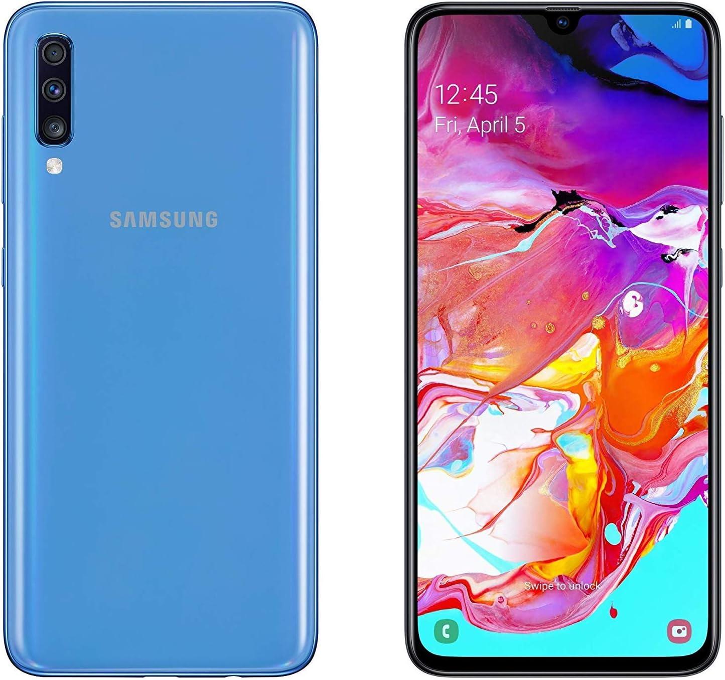 Amazon Com Samsung Galaxy A70 Sm A705f Ds Dual Sim 128gb Rom 6gb Ram 6 7 Inch Gsm Only No Cdma Factory Unlocked 4g Lte Smartphone International Version Blue Electronics