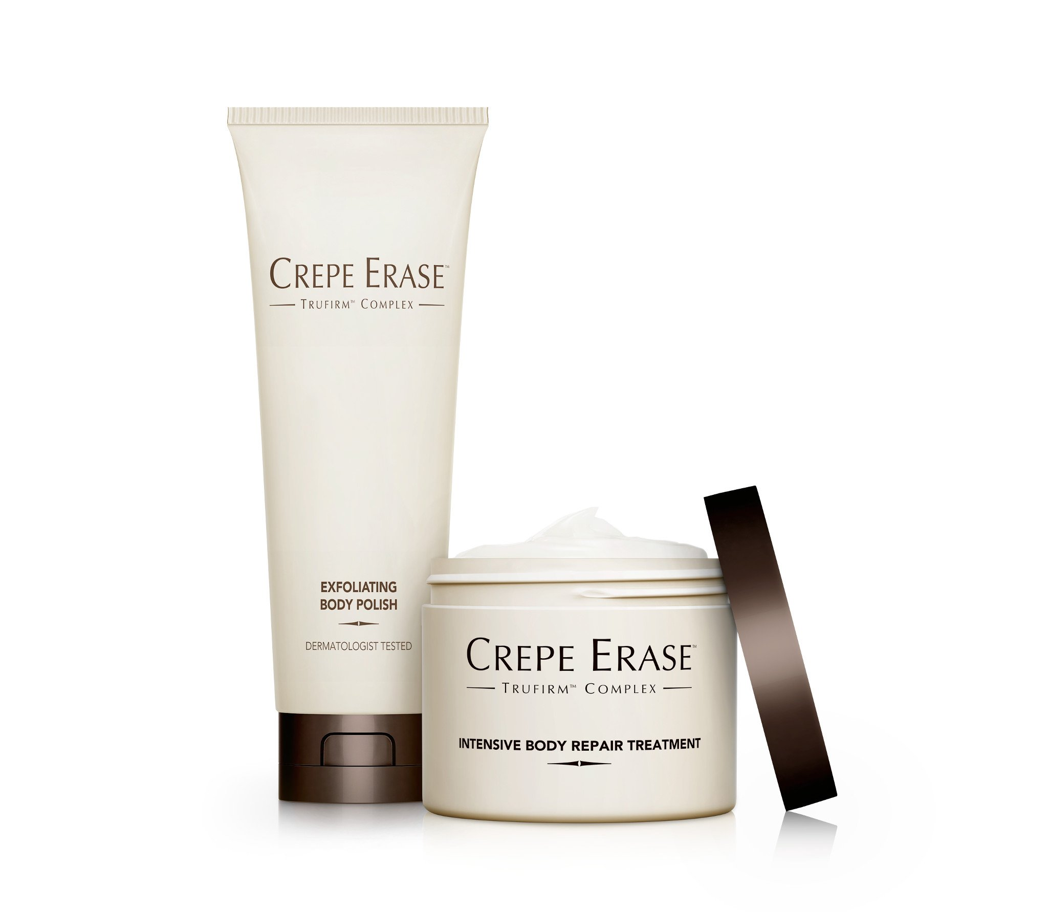 Crepe Erase – Full Size Body Duo – Nourishing and Hydrating System with TruFirm Complex – Intensive Body Repair Treatment and Exfoliating Body Polish – CS.2003