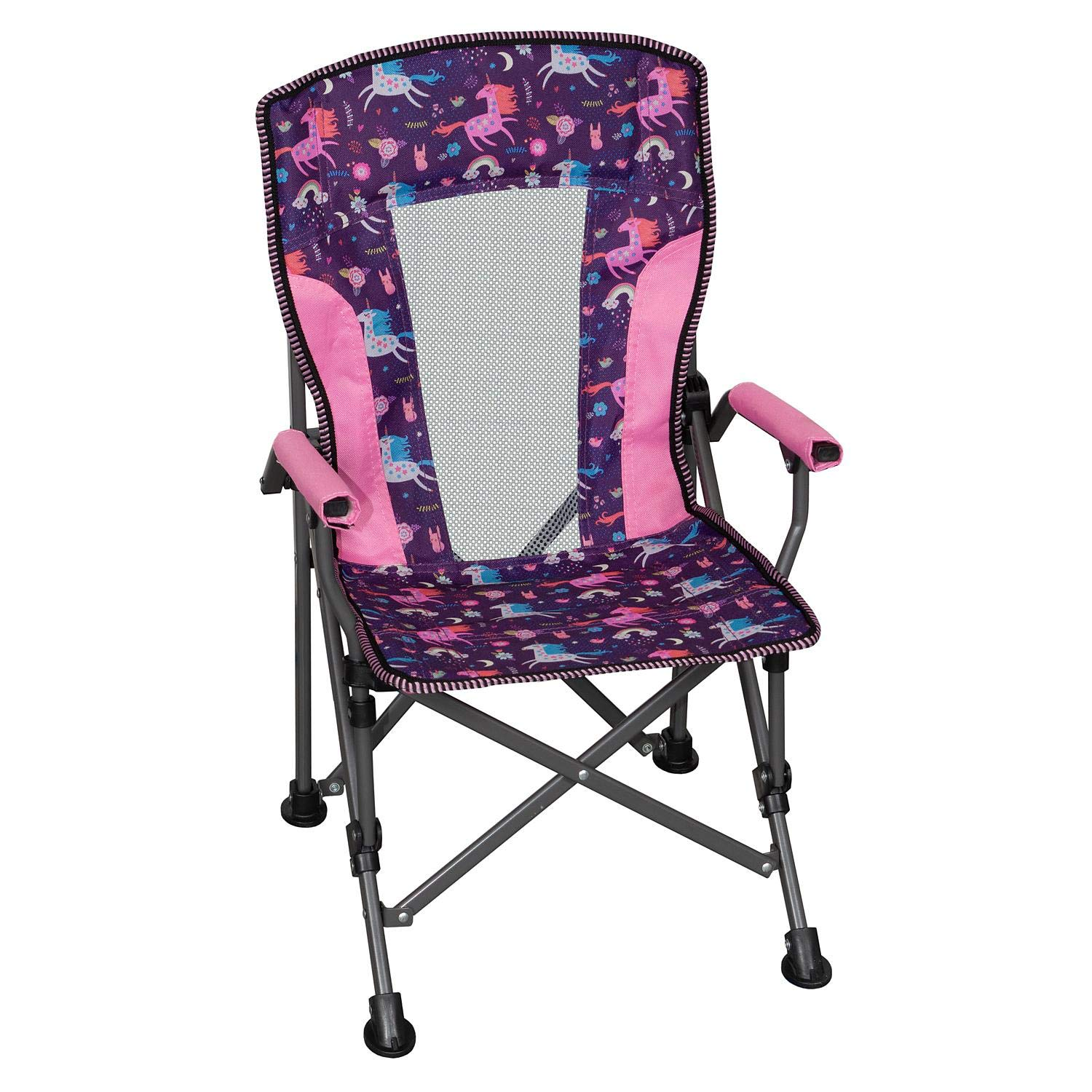Member's Mark Kids' Folding Portable Light Weight Arm Chair with Matching Storage Bag & Carrying Strap (Unicorn) by Members Mark