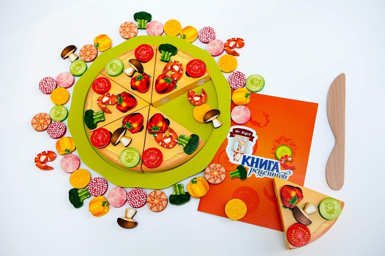 Holzbauer auf Magneten «Pizza Mr.Bigzy»