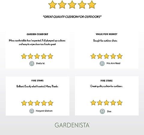 """2 Pezzi, Rosso Cuscino Decorativo 18/"""" per Mobili da Giardino Gardenista/® Cuscino da Esterno Resistente allAcqua con Imbottitura in Fiocchi di Schiuma"""
