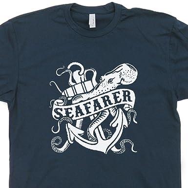 3f34e6f47446 S - Seafarer Nautical T Shirt Vintage Sailing Shirt Sailboat Tshirt  Caribbean Island Bar Bomba Shack