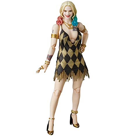 712681e420090a Amazon.com  Medicom Suicide Squad Harley Quinn Dress Version MAF EX Figure   Toys   Games