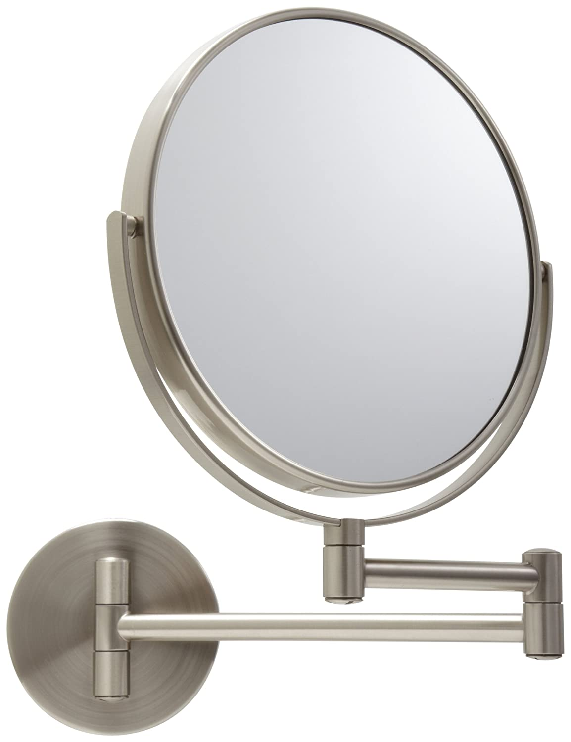 Jerdon Jp7510n 8 Inch Two Sided Swivel Wall Mount Mirror With 10x Mounted Wiring Diagram And 15x Magnification 135 Extension Nickel Finish Beauty