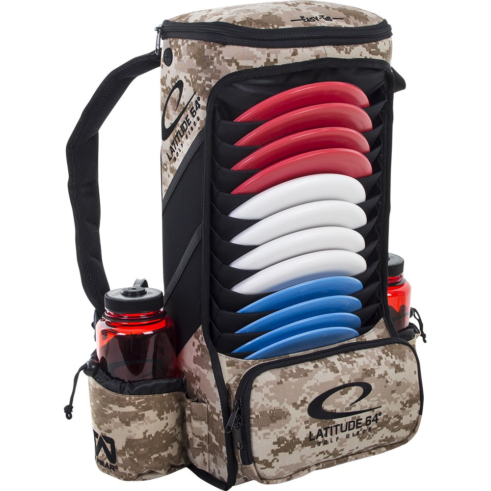 Latitude 64 Easy-Go Backpack Disc Golf Bag (Digital Camo) by Latitude 64