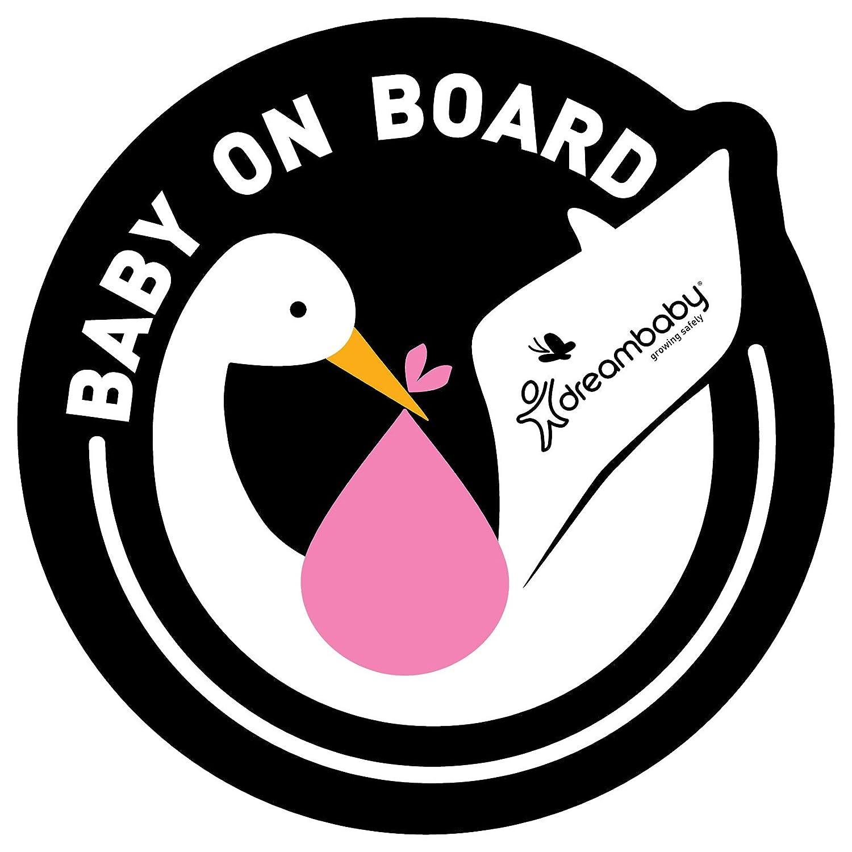 Dreambaby Baby on Board selbstklebend Aufkleber (, Rosa, 2Stück 2Stück F289