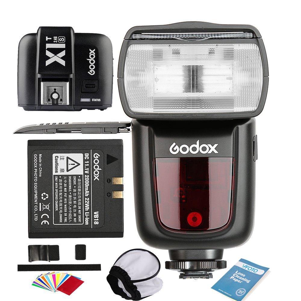 Godox V860II-S Flash Incorporado 2.4G GN60 1/8000 HSS TTL Cámara Speedlite Flash con Li-on Batería (1.5S Reciclaje Tiempo 650 Full Power) para Sony HVL-F60M, HVL-F43M, HVL-F32M Cameras