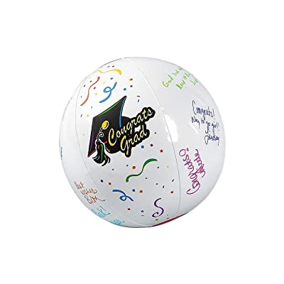 Fun Express - Inflate Autograph Graduation Beach Ball for Graduation - Toys - Inflates - Beach Balls - Graduation - 12 Pieces: Toys & Games