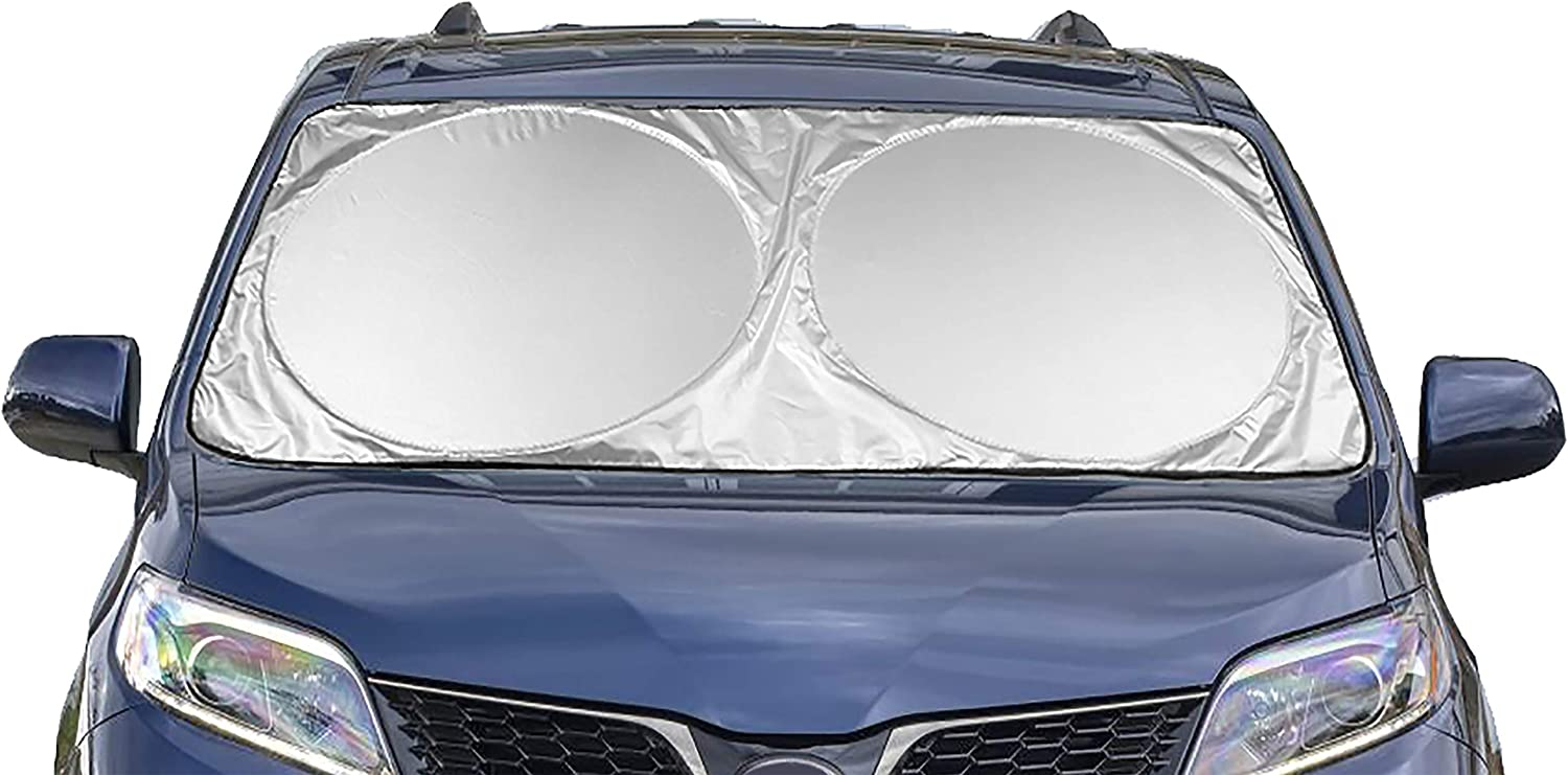 "Coveted Shade Extra Jumbo Car Windshield Sunshade (70.9"" x 39.4""), Fits Extra Large Windshields in Minivans, Cars, Trucks"