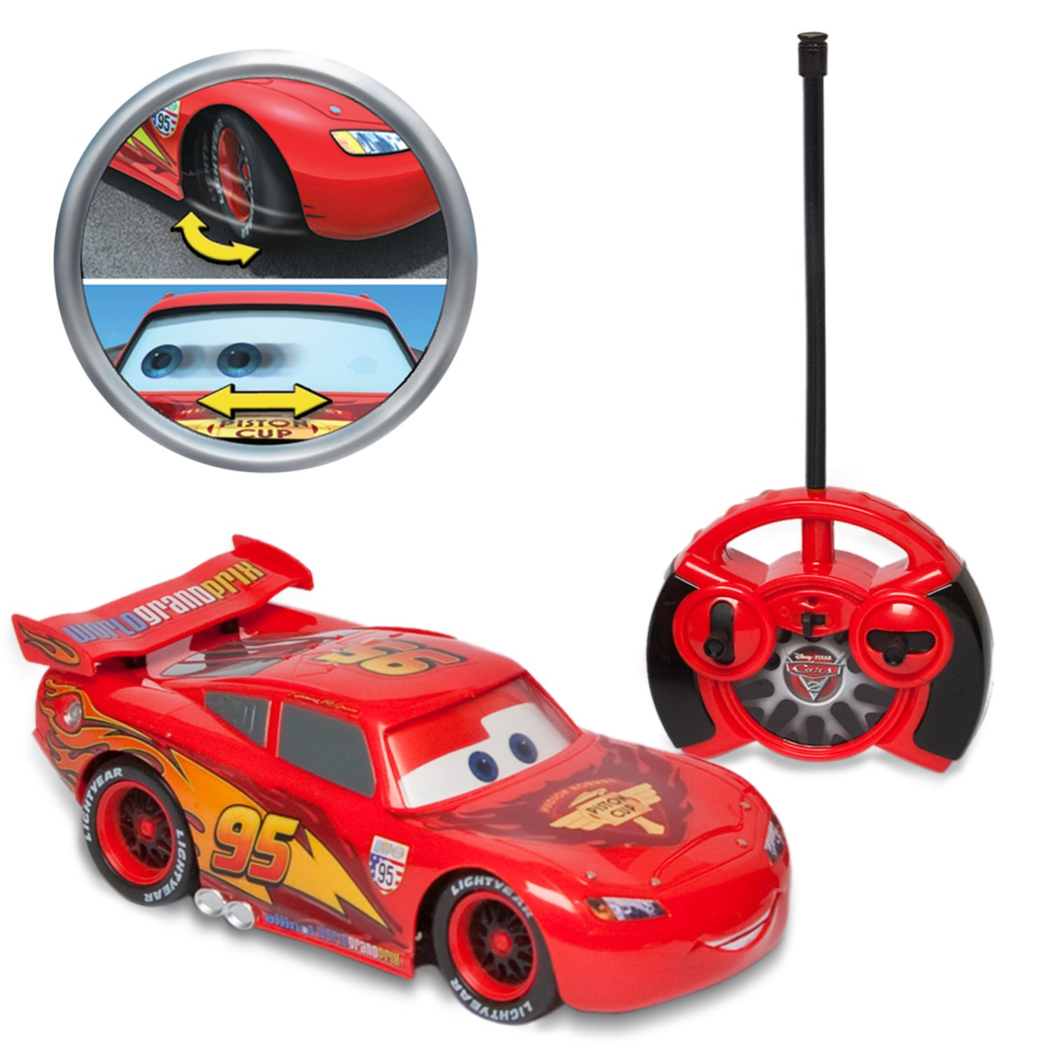 Amazon Com Cars 2 R C 1 24th Lightning Mcqueen Toys Games