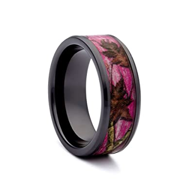Pink Camo Wedding Rings by 1 CAMO Pink Camouflage Band for