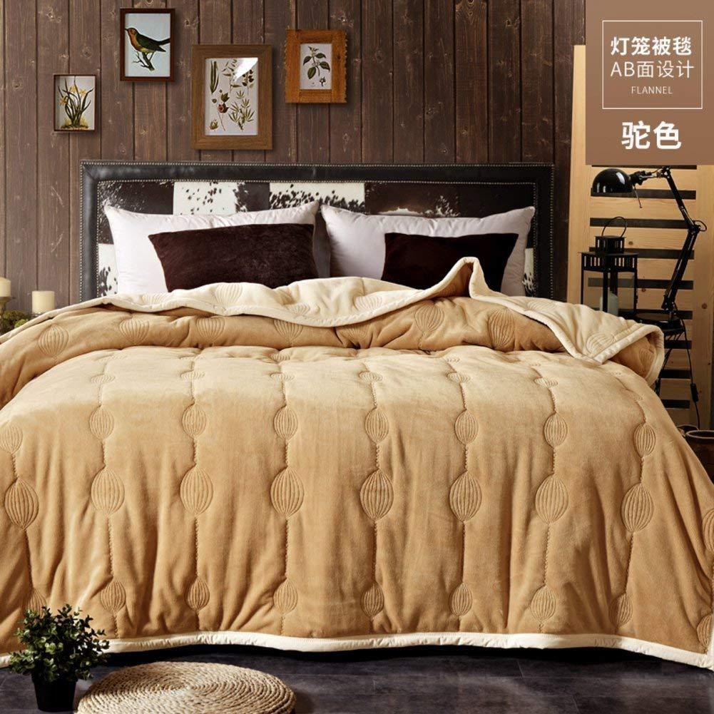 Yunyilian 冬の厚くなるフランネル毛布、暖かい単一の二重タオルのキルト毛布 (Color : 150*200cm(59x79inch), サイズ : W) B07SWVHFB3 150*200cm(59x79inch) W