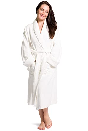 77d630a7c8 Fishers Finery Women s Premier Turkish Style Terry Spa Robe Bathrobe  (SM)  White