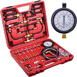 Orion Motor Tech Master Fuel Injection Pressure Tester Gauge Kit, 0-140PSI/10 Bar