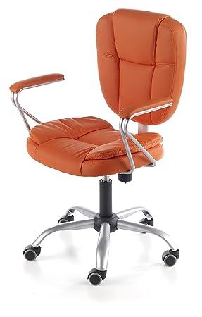 Due-home Silla de oficina juvenil, color naranja