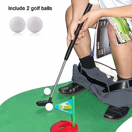 Fine Amazon Com Enjoystore Toilet Seat Golf Mini Potty Golf Set Evergreenethics Interior Chair Design Evergreenethicsorg