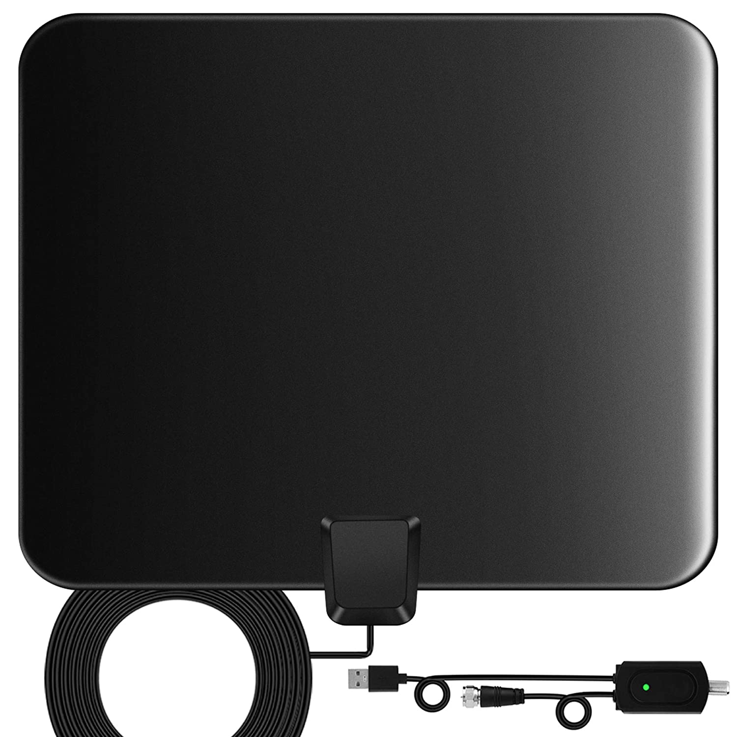 Best Indoor Antenna 2020.Tv Antenna Indoor Digital Hdtv Amplified Television Antenna Freeview 4k 1080p Hd Vhf Uhf For Local Channels 130 Miles Range With Signal Amplifier