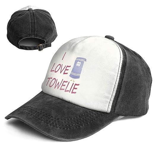 aad21e9d789 Amazon.com  Fashion Vintage Hat I Love Towelie Adjustable Dad Hat Baseball  Cowboy Cap  Clothing