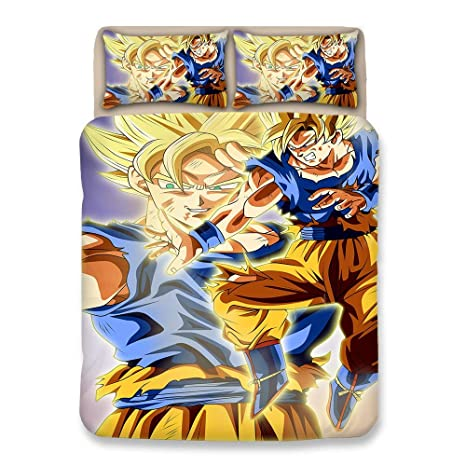 Bulk 2 Personas Dragonball Z Goku Algodón Juego de Funda nórdica ...