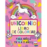 Unicornio Libro de Colorear para Niños de 4 a 8 Años: Cuadernos para Colorear Niños 4 Años | Regalo para Niña Princesa