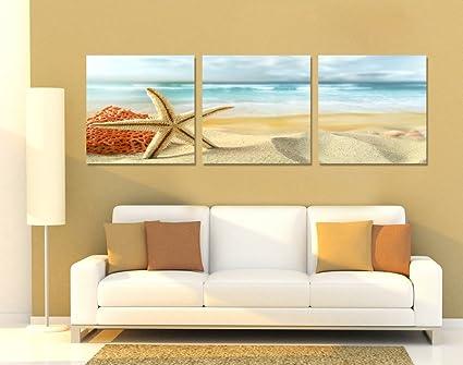 Amazon.com: Spirit Up Art Huge Home Decorations-Starfish on Beach ...