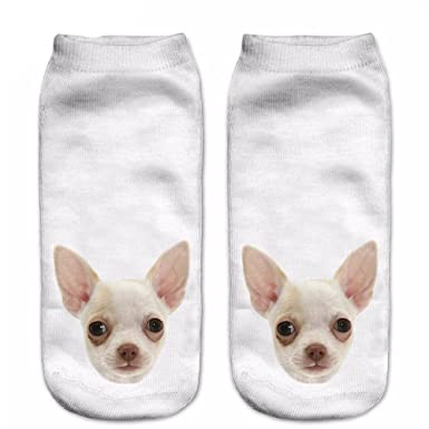 Funny Dogs 3D Printing Sock Women Low Cut Ankle Socks Calcetines Hosiery Animal Shapes Meias Sock
