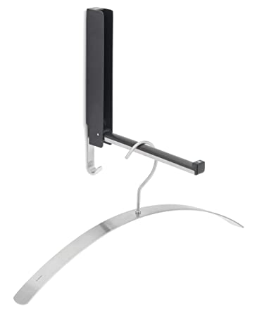 Blomus 63262 Wall Mounted Coat Hook with Flip Down Hook Option, Silver