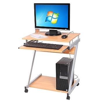 Schon Busyall 60 X 48 X 72 Cm Computertisch Mit Tastaturauszug Und Rollen  Bürotisch PC Laptoptisch Notebooktisch