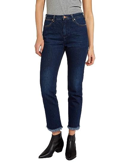 f5d4f37e Wrangler Women's Retro Dark Slim Jeans Blue at Amazon Women's Jeans store