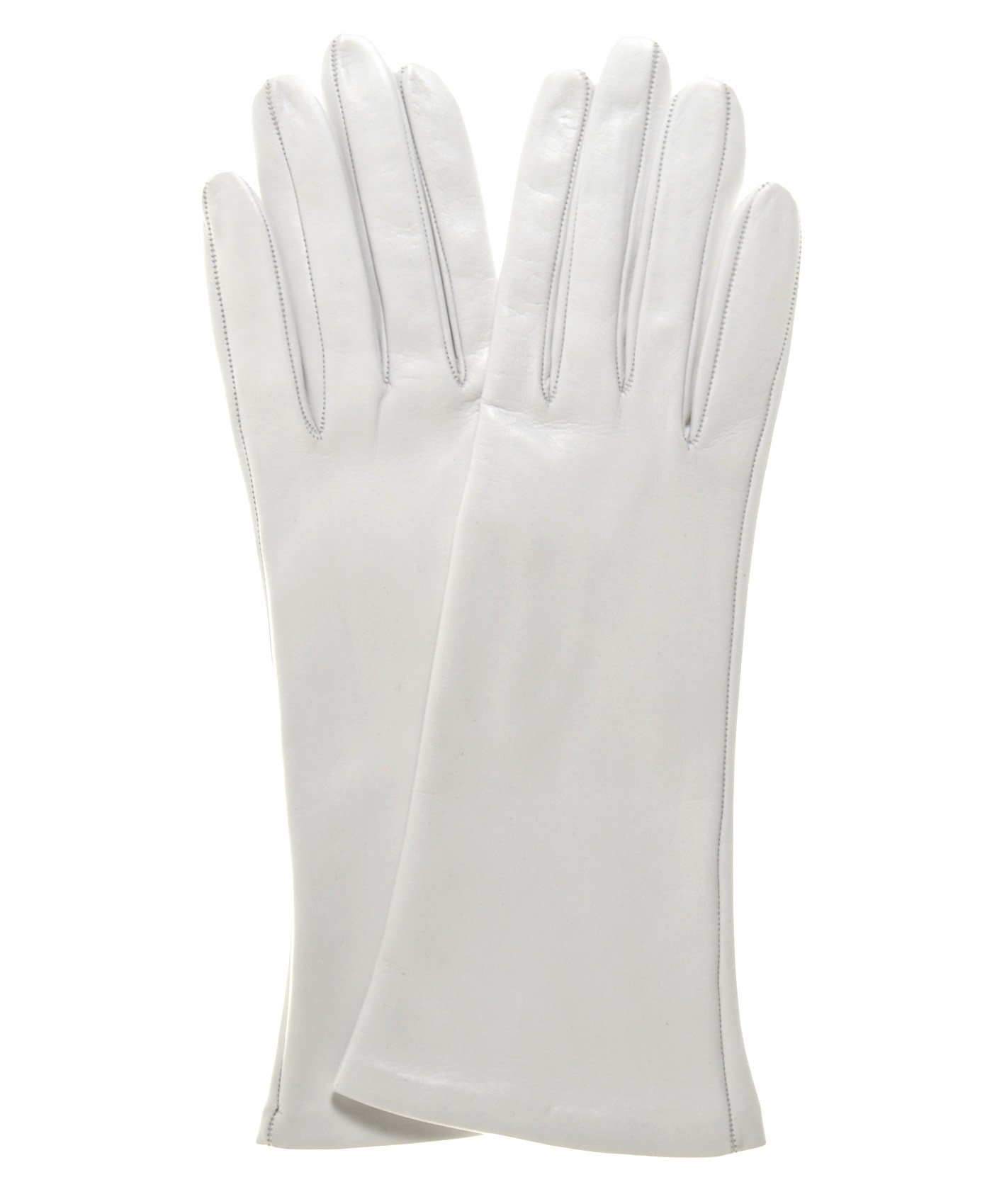 Fratelli Orsini Women's Italian Silk Lined 4-Button Length Bridal Gloves Size 7 Color Ivory by Fratelli Orsini