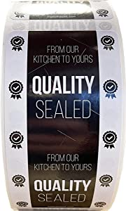 Tamper Evident Labels Quality Sealed Food Seal Stickers 2 x 4 Inch 500 Total Stickers