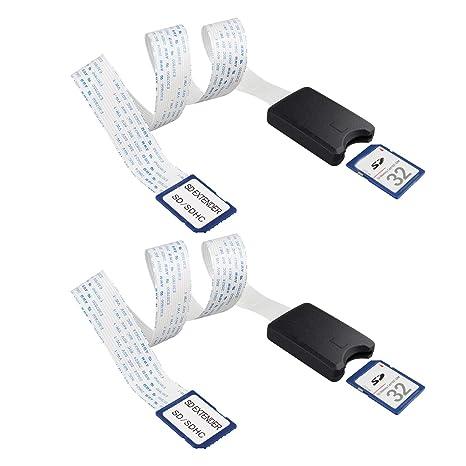2 Cables de extensión SD a SD de 48 cm para Tarjeta SD de 18 ...