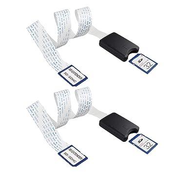 2 Cables de extensión SD a SD de 48 cm para Tarjeta SD de 18,9 ...