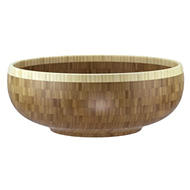 Totally Bamboo Classic Extra-Large Bamboo Serving Bowl, 16  x 16  x 6