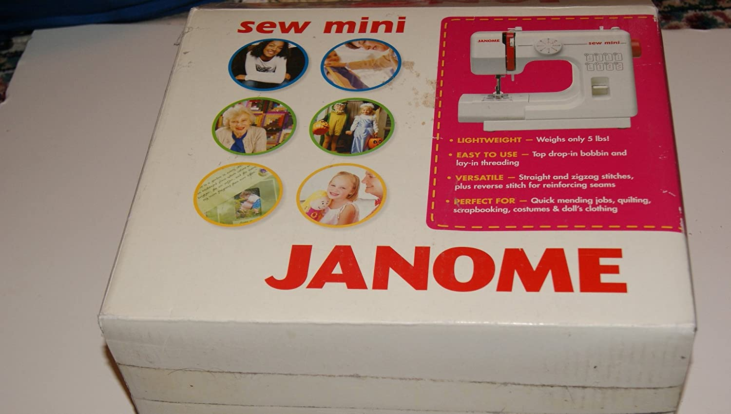 Amazoncom Janome Sew Mini 124 Sewing Machine Thread A Diagram Labeled