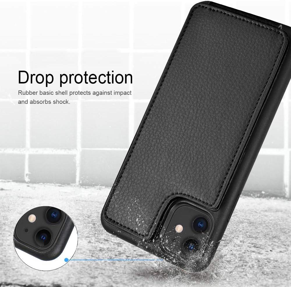 iPhone 11 Wallet Case ZVE iPhone 11 Case with Credit Card Holder Slot Protective Shockproof Pocket Wallet Case Handbag Slim Leather Case for Apple iPhone 11,6.1 inch Dard Green