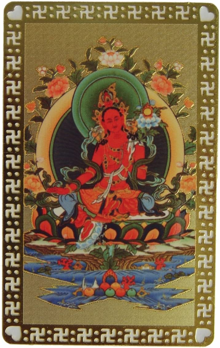 Feng Shui Import Red Tara Talisman Card