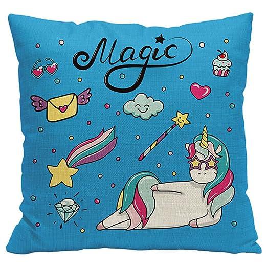 melumber Multicolor almohada sofá almohada sin funda de ...