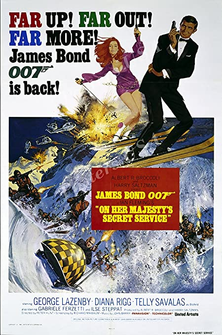 Amazon.com: Posters USA 007 On Her Majesty's Secret Service James ...